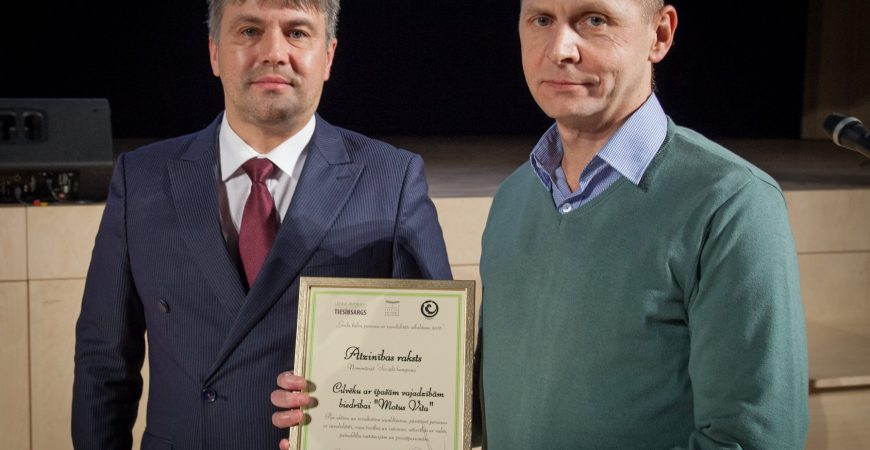 """Motus Vita"" received an honorary diploma in the nomination ""Social Campaign"""